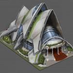 Budova připomínající Operu v Sydney