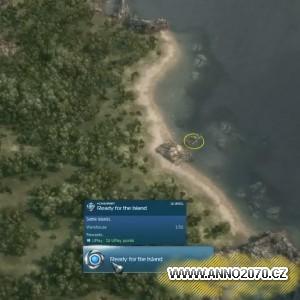 Osídlení ostrova v první misi kampaně