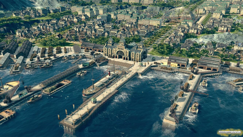 Pohled na město v Anno 1800